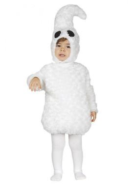 Disfraz de Fantasmita blanco para Bebé