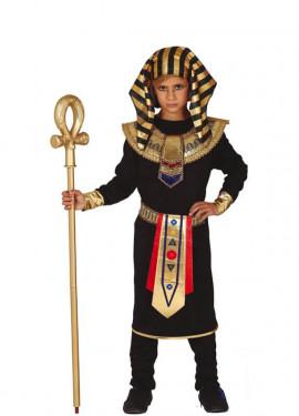 Disfraz de Faraón Egipcio Negro para niño