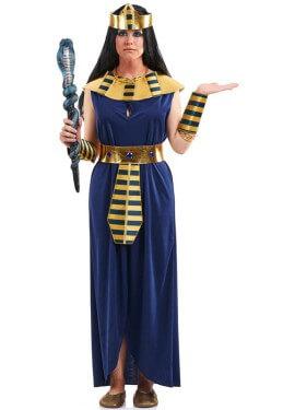 Disfraz de Faraona azul para mujer