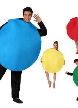 Déguisement Pion du Parchis 4 couleurs pour adultes