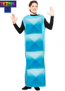 Disfraz de Figura de Tetris Azul Claro para adultos