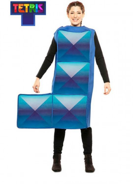 Déguisement de Tetris bleu pour adulte