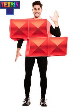 Disfraz de Figura de Tetris Roja para adultos