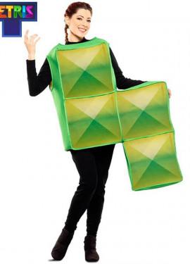 Costume da Tetris verde per adulti