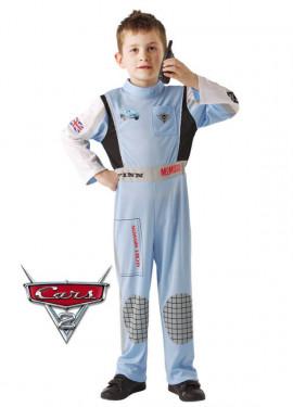 Disfraz de Finn Mcmissile Classic de Cars 2 para niño
