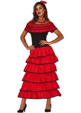 Robe de flamenco à volants pour femme