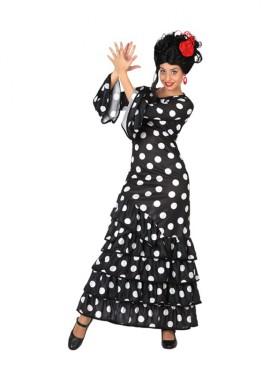 Disfraz de Flamenca Negro para chicas