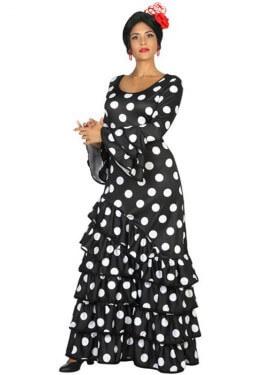 Disfraz de Flamenca negro para mujer