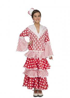 Disfraz de Flamenca Rocío para niña