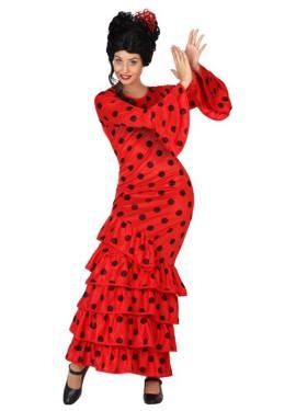 Disfraz de Flamenca Rojo para chicas