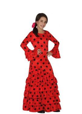 Disfraz de Flamenca rojo con lunares para niña