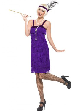 Déguisement Flapper Année 20 Couleur Lilas pour Femme plusieurs tailles