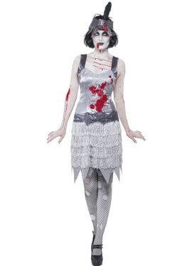 Déguisement de Flapper Zombie des années 20 pur femme plusieurs tailles