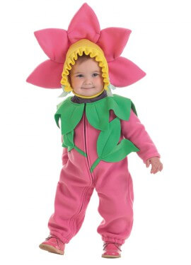 Disfraz de Flor rosa para bebé