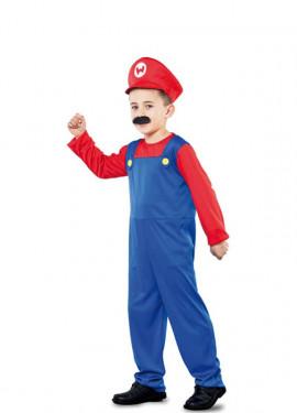 Costume rosso idraulico per un bambino