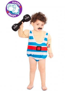 Déguisement d´Homme Musclé de Cirque pour bébé
