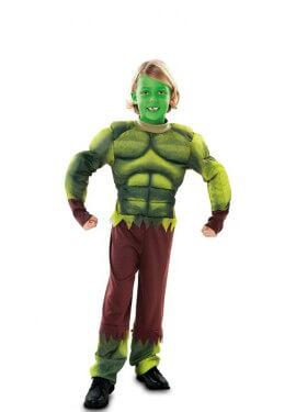 Déguisement d´homme Musclé Vert pour garçon