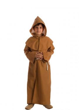 Disfraz de Fraile Marrón para niños