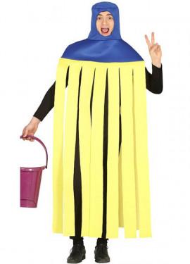 Costume da mop giallo e blu per adulti