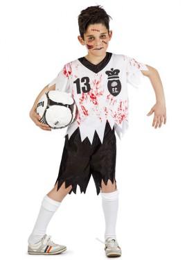 Déguisement de Footballeur Zombie pour garçon.
