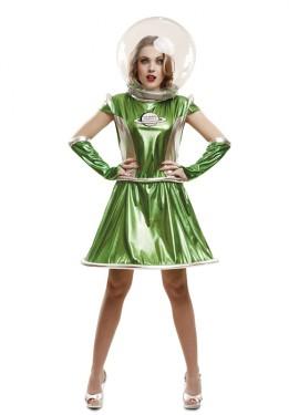 Déguisement Alien Galactique Vert pour femme
