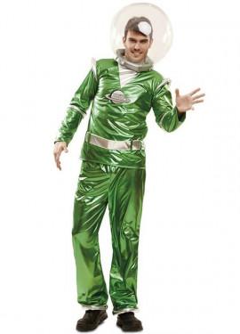 Disfraz de Galáctico verde para hombre