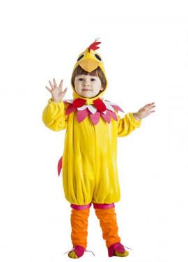 Disfraz de Gallina amarilla para niña