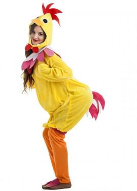 Disfraz de Gallina amarillo para mujer