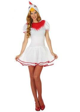 Disfraz de Gallina Blanca para mujer