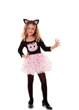 Disfraz de Gatita rosa para niña