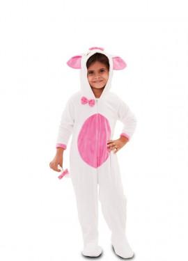 Disfraz de Gatita rosa y blanco para niña