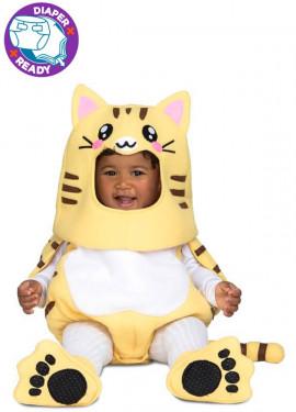 Disfraz de Gatito amarillo para bebé