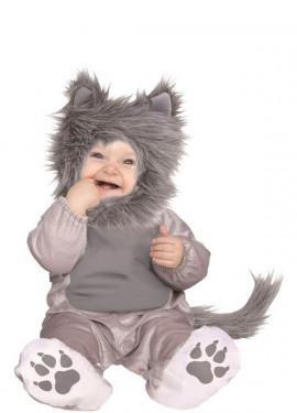 Costume da gattino grigio per bambini
