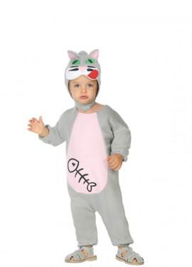 Disfraz de Gato con pez para bebé