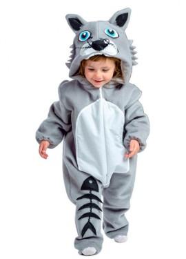 Disfraz de Gato con raspa de pescado para bebé de 18 meses