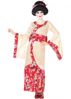 c6cef25ee1 Disfraz de Geisha con Flores para mujer ...