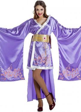 b5726704c1 Disfraz de Geisha Lila para mujer