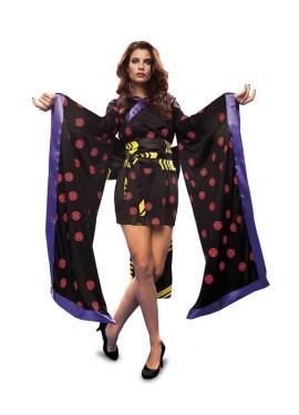 Disfraz de Geisha Negra para mujer talla M-L