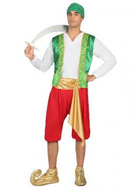 Disfraz de Genio verde para hombre