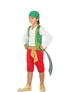 Disfraz de Genio verde para niño
