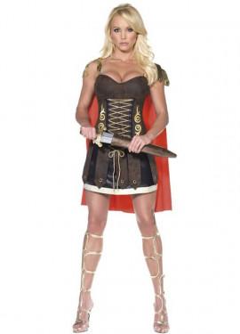 Disfraz de Gladiadora o Guerrera Romana para mujer