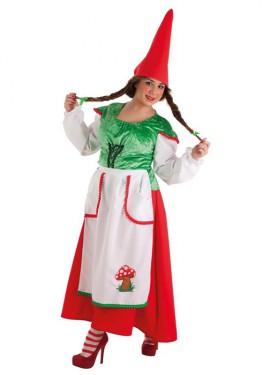 Disfraz de Gnoma para mujer