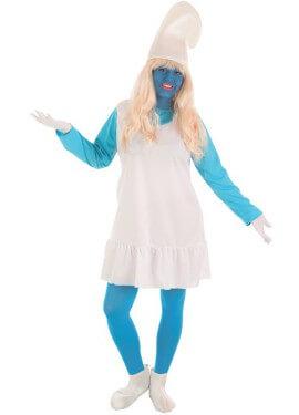 Disfraz de Gnomo Azul para mujer