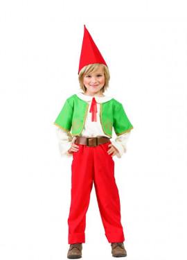 Disfraz de Gnomo Rojo y Verde para niño
