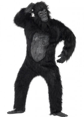 Disfraz de Gorila Negro Deluxe para hombre