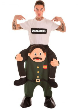 Disfraz de Guardia Civil con Preso a Hombros para hombre