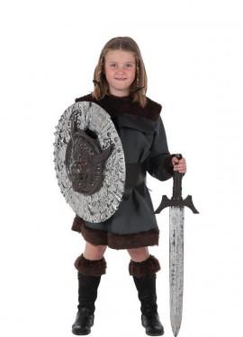 Disfraz de Guerrera Bárbara para niña