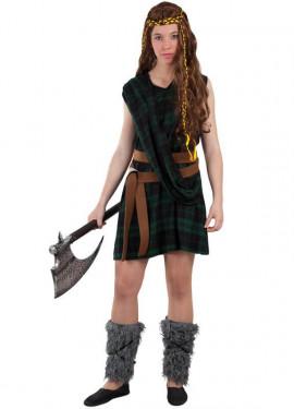 Disfraz de Guerrera Escocesa para mujer