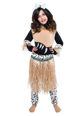 Disfraz de Guerrera Zulú para niña