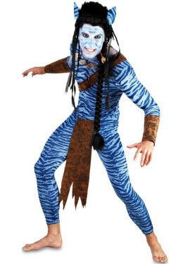 Costume da guerriero blu per un uomo
